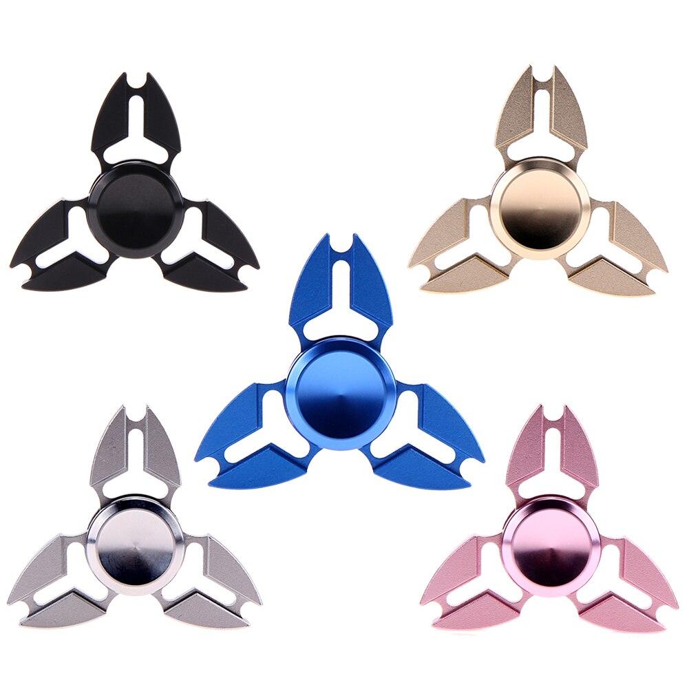 New Creative Metal Tri Fidget Hand Spinner Triangle Brass Finger Toy EDC Focus ADHD Fidget Spinner