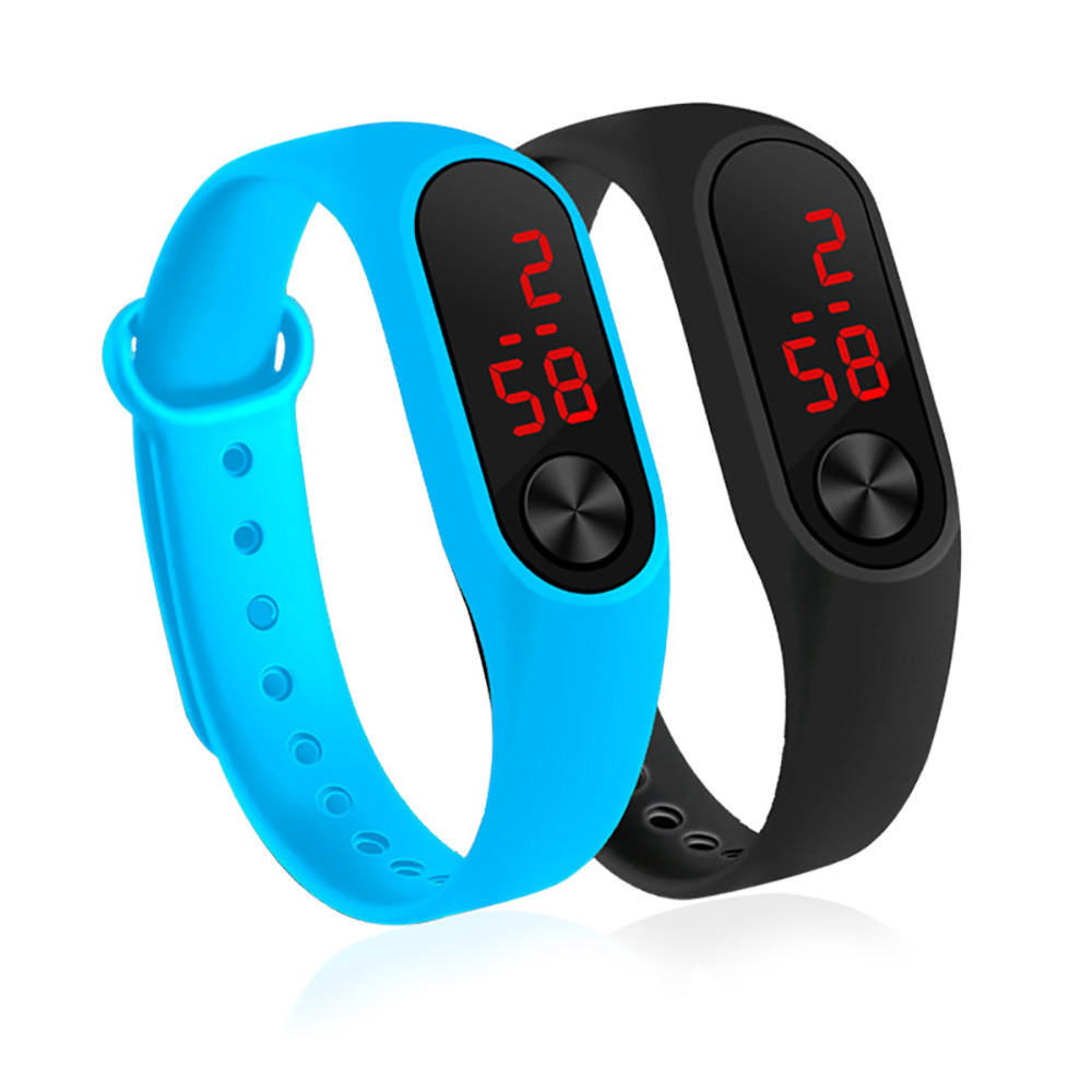 Men's Women's Sport Led Digital Watch Hand Ring Watch Led Sports Fashion Electronic Watch Silicone Electronic Watch