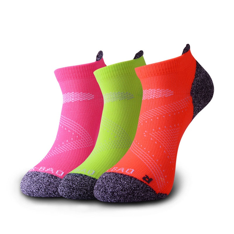 3 Pairs/Lot Professional Outdoor Sports Socks Women Breathable Compression Marathon Running Socks Moisture-wicking Fitness Socks