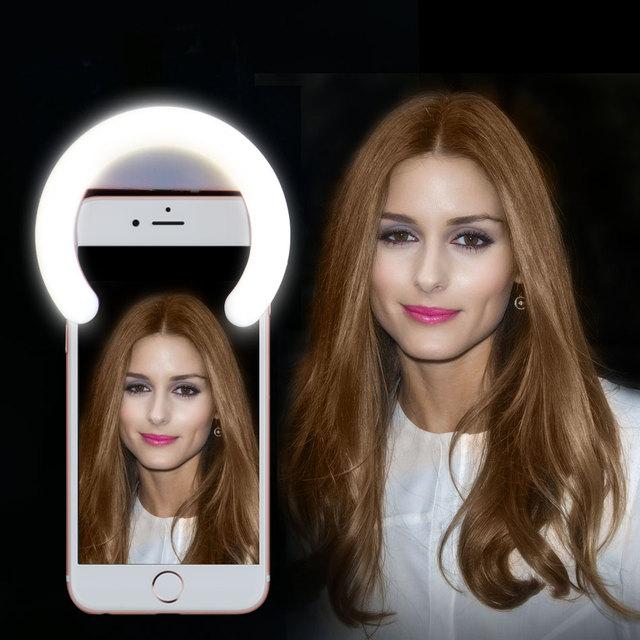 Smartphone Selfie LEVOU Anel de Luz para o iphone para Samsung upplementary Fill-in Iluminação Noturna Selfie Enhancing Fotografia