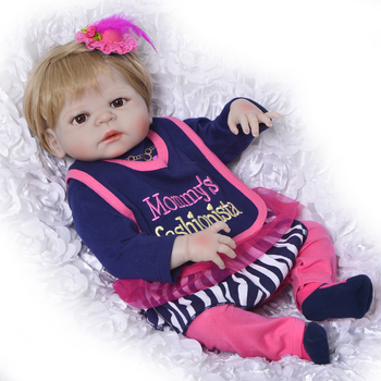 """NPK 23"""" whole silicone doll reborn babies toys for child gift bebes reborn menina bonecas waterpoof bathe doll play house toys"""