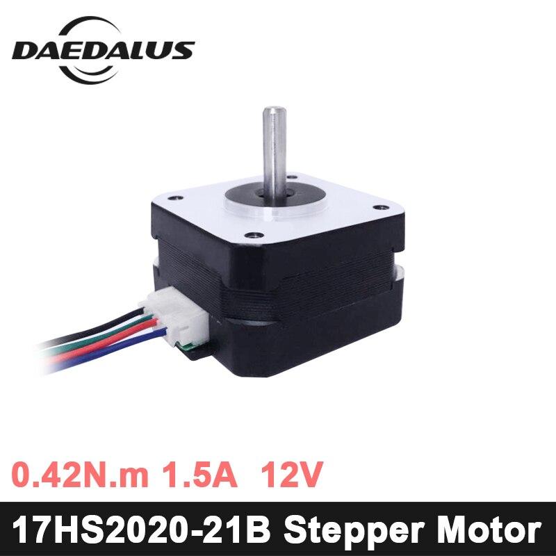 купить 17HS2020-21B Nema17 Stepper Motor 1pcs 4-lead Nema 17 Stepper Motor 42 Motor 1.5A For 3D Printer And CNC XYZ engraver machine по цене 322.31 рублей