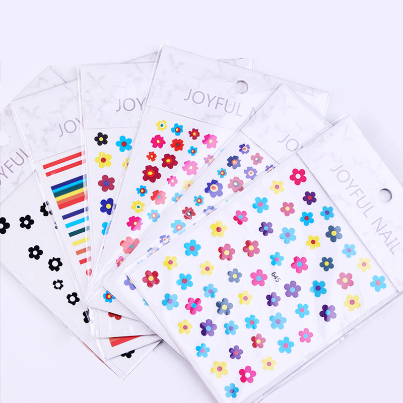 Nail Sticker Kim Hyun A Style Nail Decal Flower Strawberry Egg Spring and Summer Design Stickers Press on Nails Manicure (7)