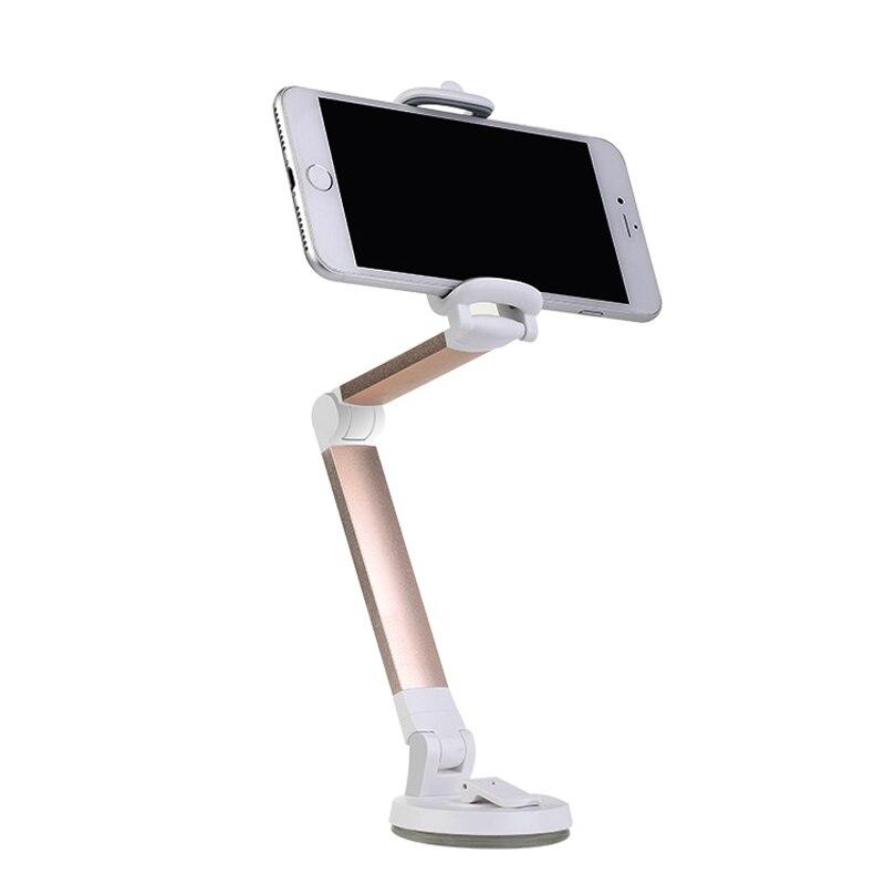 ALMXM Flexible Mobile Phone Holder Desk Stand Folding Bed Desktop Car Phone Windshield Mount for iPhone X 8 7 Samsung