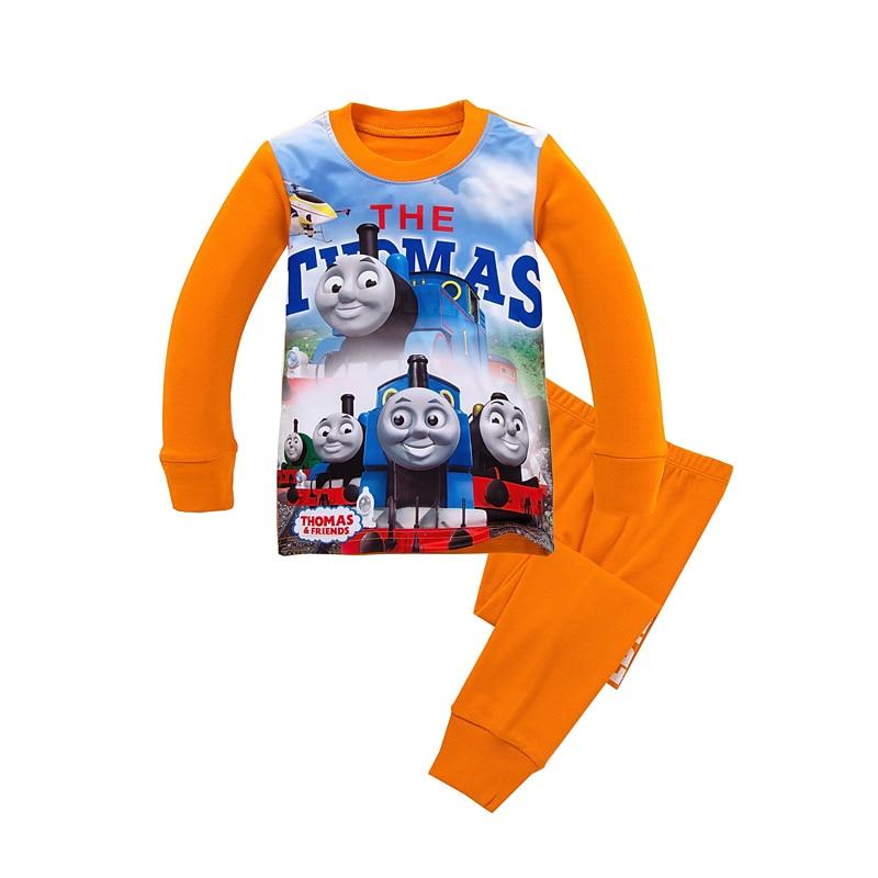 Fashion Thomas Train Set Boys Autumn Clothing Set Kids Long Sleeve T Shirt Pants Pajamas Old