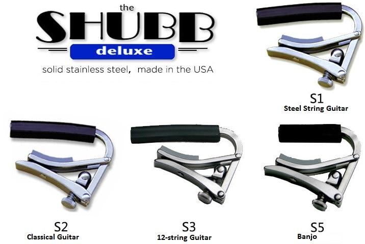 Shubb Deluxe série S cordes en acier guitare Capo S1 S2 S3 S5 pour guitare acoustique/classique/12 cordes et Banjo Capotraste
