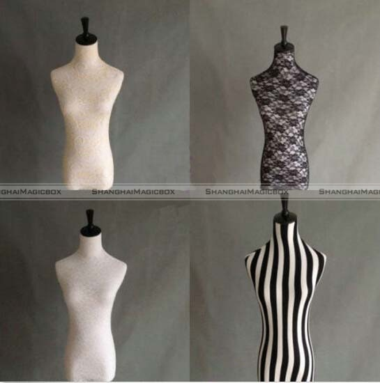 Lace Halfbody Mannequin Cover Model Dummy Top Cover Dress 4 Colors
