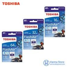 Cartão de memória sem fio 16 gb 32 gb 64gbwifi sd do apoio 4 k da alta velocidade do cartão de memória da câmera slr do cartão do sd de toshiba wifi
