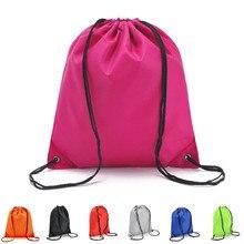 2019 Unisex String Drawstring Travel Backpack Bag Cinch Sack School Tote Gym Bag Sports Pack