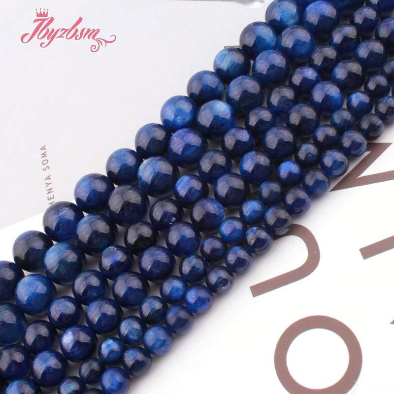 6,8mm AA Round Ball Blue Kyanite Beads Natural Stone Beads For Women Necklace Bracelets Jewelry Making DIY 15 Free Shipping stylish women s beads round arc necklace