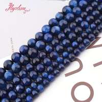 6,8mm AA Round Ball Blue Kyanite Beads Natural Stone Beads For Women Necklace Bracelets Jewelry Making DIY 15 Free Shipping