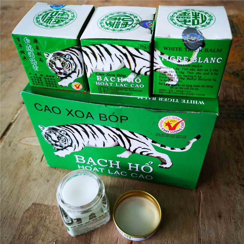12pc White Tiger Balm Ointment Pain Relief Plaster Anti Dizziness Essential Balm Oil for Headache Toothache Stomachache