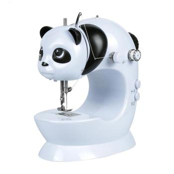 Mini Hand Foot Overlock Motor Sewing Machine Dual Speed Portable Mini Electric Pedal Double Threads Panda Sewing Machines L40 maquina de coser de mano