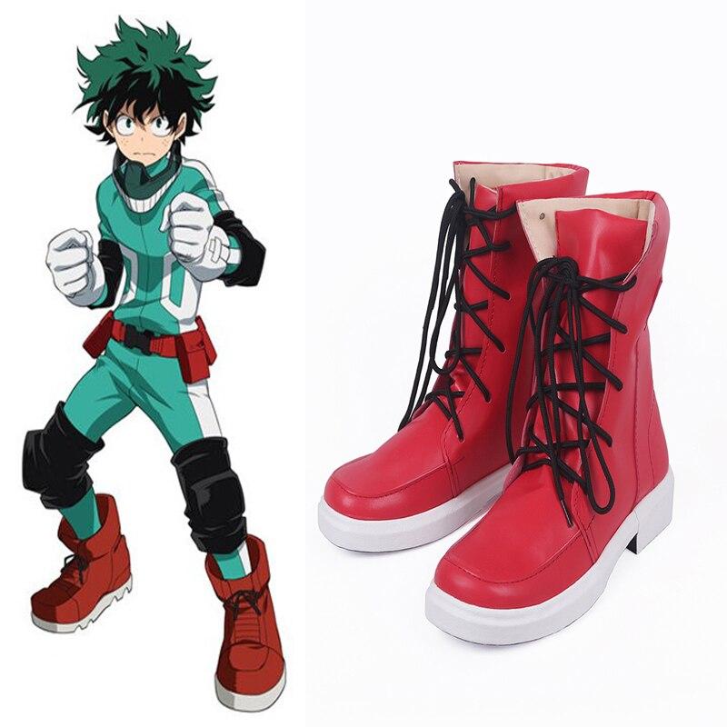 Anime My Hero Academia Cosplay Shoes Izuku Midoriya Cosplay Shoes Boots Halloween Party Boku no Hero Academia Cosplay Costumes