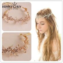 Luxury Handmade Crystal Pearl Wedding Hair Accessories Vintage Bridal Headbands Prom Headpiece Hairwear