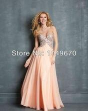 Kleider Neue Mode 2016 Schatz Lange Prom Kleider Chiffon Besondere Anlässe Abendkleid Mit Kristall N368