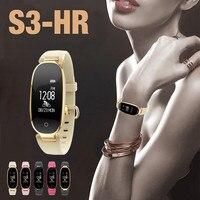 Smart Wrist Watch BT V4.0 BLE Heart-Rate Sleep Monitoring Facebook Twitter WhatsApp S3 3-axis gravity sensing 5V USB BFOF