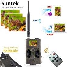 12MP фото ловушки электронная почта MMS GSM 1080P ночное видение охотничья ловушка HC300M дикая охотничья камера для охоты