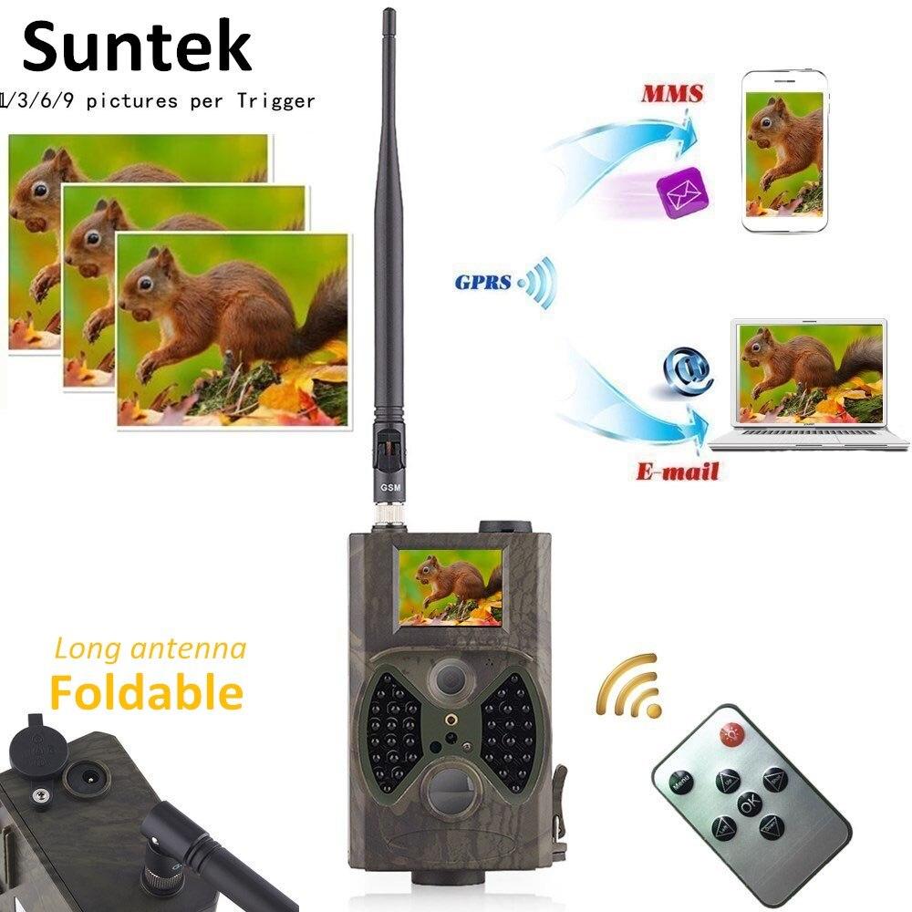 12MP foto trampas Email MMS GSM 1080 p visión nocturna caza trampas HC300M salvaje caza Cámara del rastro de la Cámara de la fauna chasse