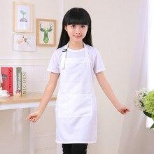 Childrens apron set kindergarten children eat painting art advertising baking chef clothes white