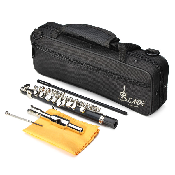 LADE ABS Pipe Silver C Tone Piccolo Flute With Cloth Case Cupronickel free shipping fdr 4string jazz bass electric bass guitar 4 string bass in vintage sunburst 140605