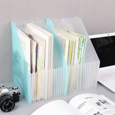 creative desktop file organizer box transparent pp plastic file holder tray desk vertical expanding file folder
