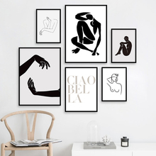 Abstract Body Art Minimalist Line Nordic Posters And Prints Wall Canvas Painting Pictures For Living Room Scandinavian Decor