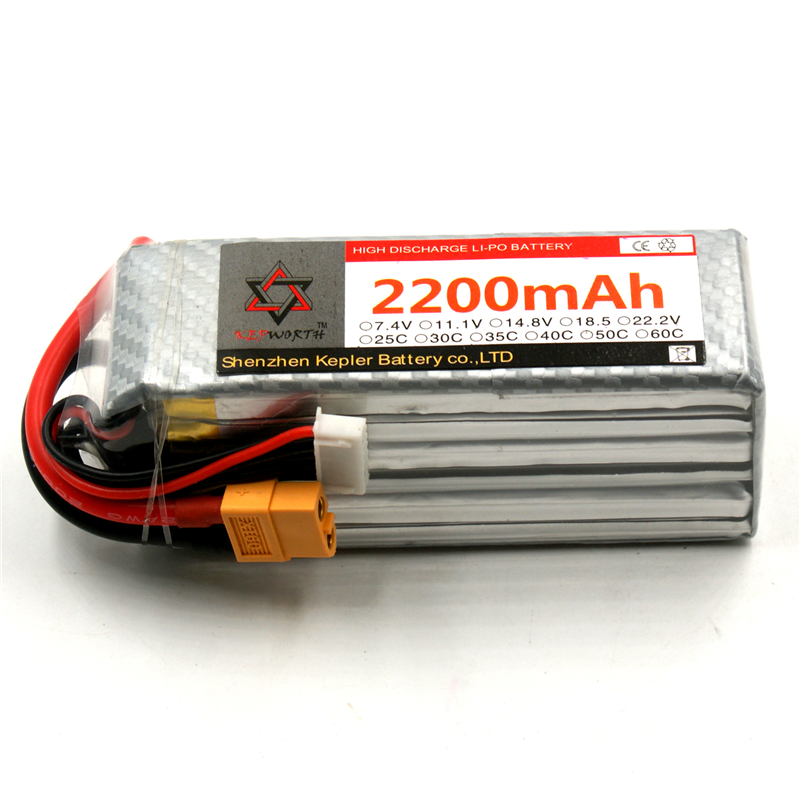 RC <font><b>Lipo</b></font> Battery <font><b>6S</b></font> 22.2V <font><b>2200mAh</b></font> 25C 35C 60C Li-Polymer Battery For RC Car Plane Boat Helicopter Truck Tank image