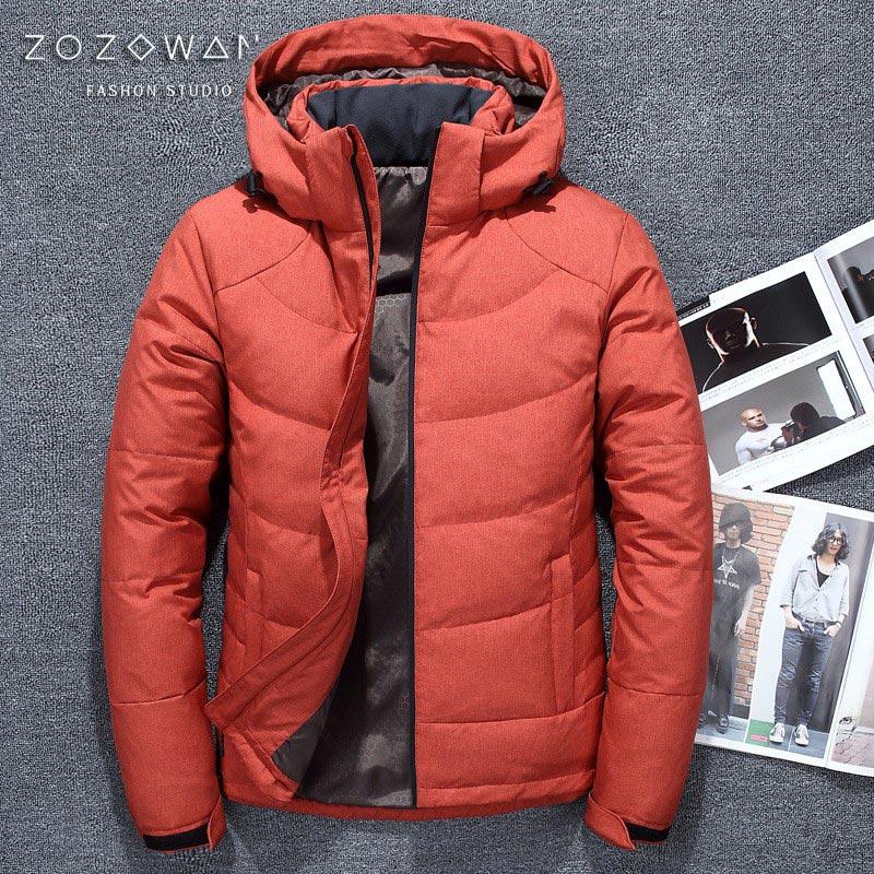 47a577b02de 2019 Высокое качество 90% белый утиный пух куртка Мужская пальто Зимние  Парки Мужская теплая брендовая