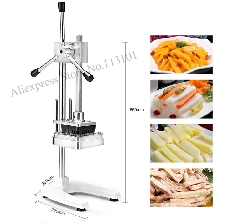 Upright type potato chips cutter slicer stainless steel potato cutting machine with 3 cutting moulds upright dac4813ap dip28