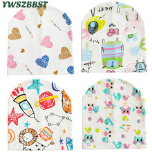 New Baby Hat Spring Autumn Cotton Cap Cute Cartoon Beanies for Boys and Girls Toddler Scarf
