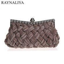 Knitting Women Evening Clutch Bag Soft Rhinestone Woman Handbag Purses And Handbags Makeup Party SFX-A0223