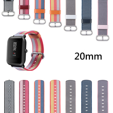 Colorful Splice Nylon Strap For Xiaomi Huami Amazfit Bip Bit Youth Watch Band Accessories Canvas Wristband 20MM Watchband Sports 20mm nylon sport strap watchband for huami amazfit bip youth smart watch replacement comfortable wristband watch band strap