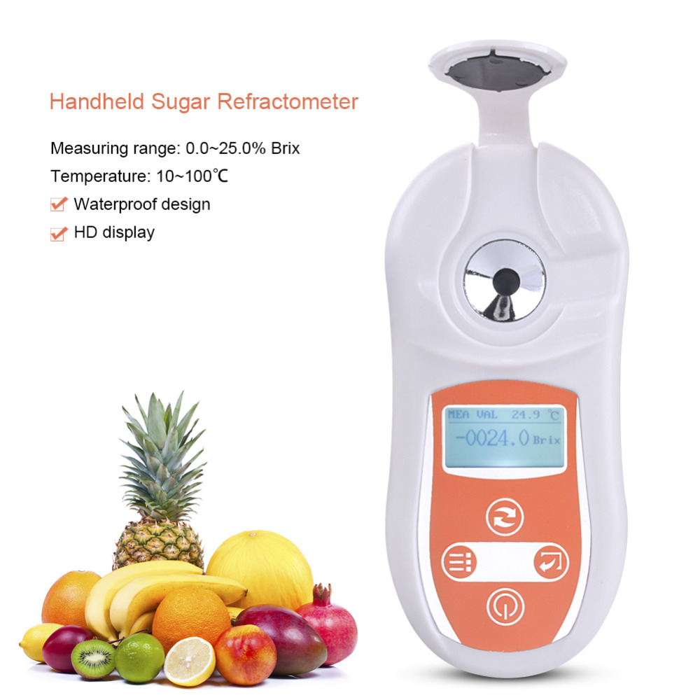 Yieryi Digital Brix Refractometer 0-25.0% PAL-101 Brix Tester Cutting Fluid Concentration Measuring InstrumentYieryi Digital Brix Refractometer 0-25.0% PAL-101 Brix Tester Cutting Fluid Concentration Measuring Instrument