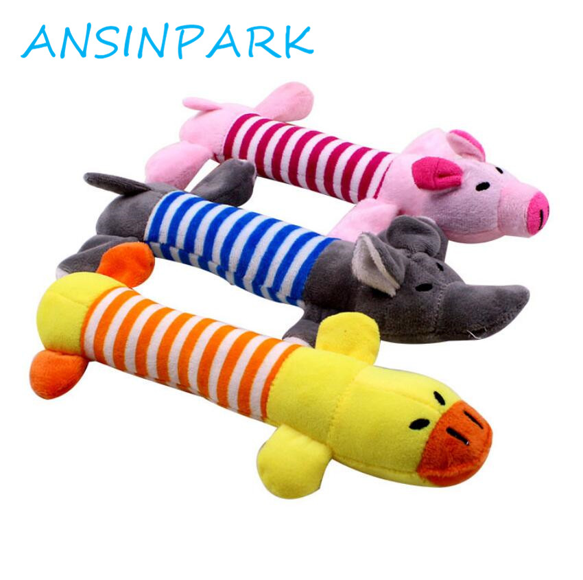 Ansinpark Funny Dog Cat Toy Stuffed Dog Sustainability Chew Toy Squeak Noise Made In All Animals Elephant Plush Toy Duck Pig G99