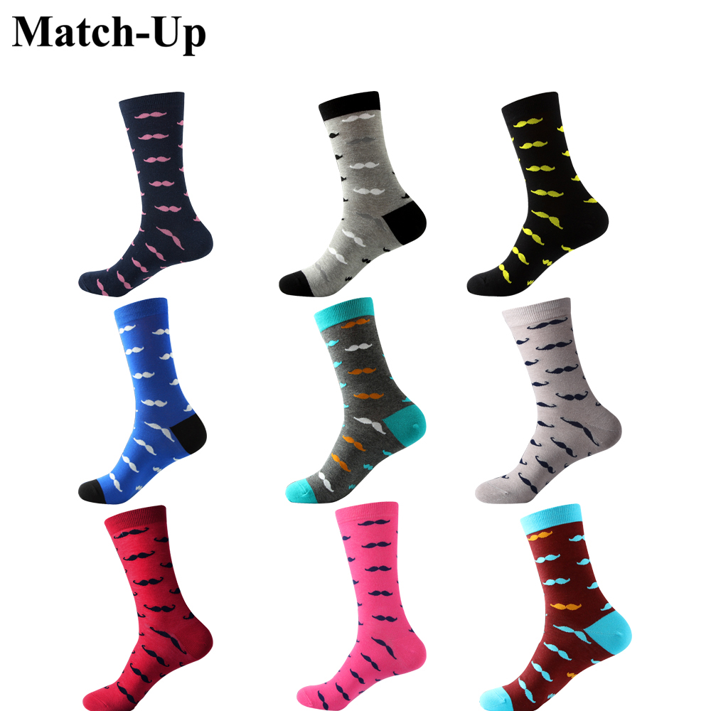 Men's combed Cotton mustache   socks   9 styles US size(7.5-12)
