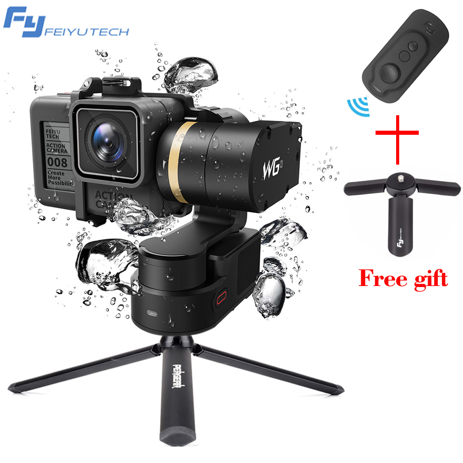 feiyutech WG2 Wearable Waterproof mini 3 axis handheld gimbal camera stabilizer for GoPro Hero 5/4 Session camera and smartphone