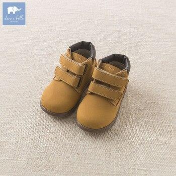 DB5882 ديف بيلا الخريف الشتاء بيبي بوي فتاة أحذية من الجلد جلد البقر