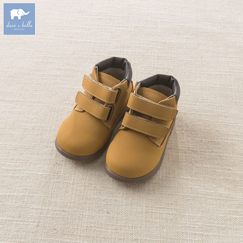 DB5882 Dave Bella autumn winter baby boy girl leather shoes cow skin shoes