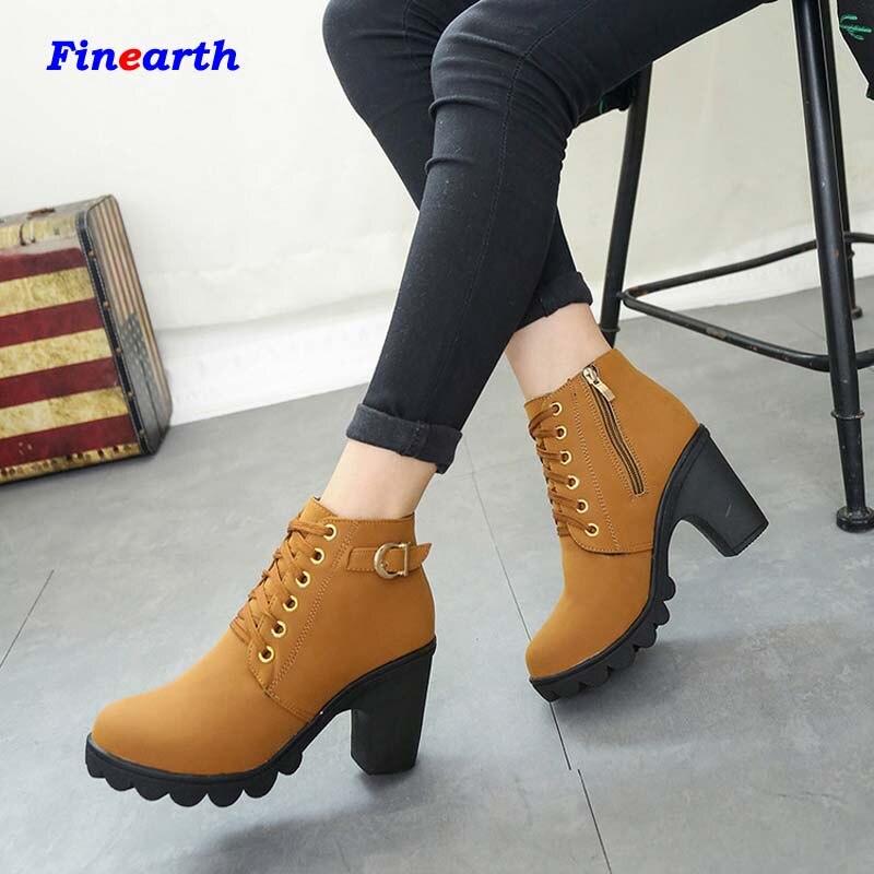 New Design 2017 High Heels Shoes Flat Heel Women Boots Fashion Black Brown Boots Women-in Snow ...