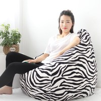 Cute Bean Bag Lounger Sofa Cover Chairs For Adults Outdoor Couch Lazy Bean Bag Sofa Case Cover Without Filling Seat Living Room