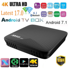 M8S MECOOL PRO DDR4 Android 7.1 Octa Core CAJA de la TV Inteligente S912 WIFI 4 K PK Películas TV Smart Box Android Media Player Xiaomi x96