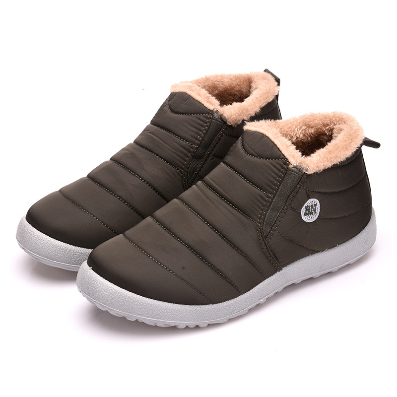 Image 5 - Women Snow Boots Shoes Fashion Keeping Warm Waterproof Slip on Lightweight Women Ankle Boots Winter Flat 35 49 Plus Size Shoe-in Ankle Boots from Shoes