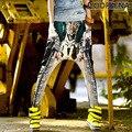 #1923 2016 Мода шаровары Повседневная Hip hop брюки Женщины бегунов Бегунов для женщин Свободные брюки