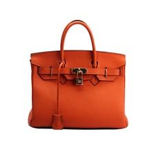 100% Cowhide Real Leather Bag Platinum Lock Bags Handbags Women Famous Brands Genuine Leather Tote Shoulder Crossbody Bags