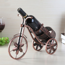 Nordic Style Vintage 3D Tricycle Wine Rack Retro Shelf Iron Bottle Holder Bar Accessories Home Bars Stand for Bottles