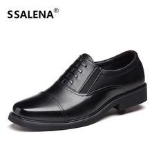 b43678028 Homens De Couro Do Dedo Do Pé Quadrado Sapatos Masculinos Sapatos Oxford  Dos Homens de Negócios