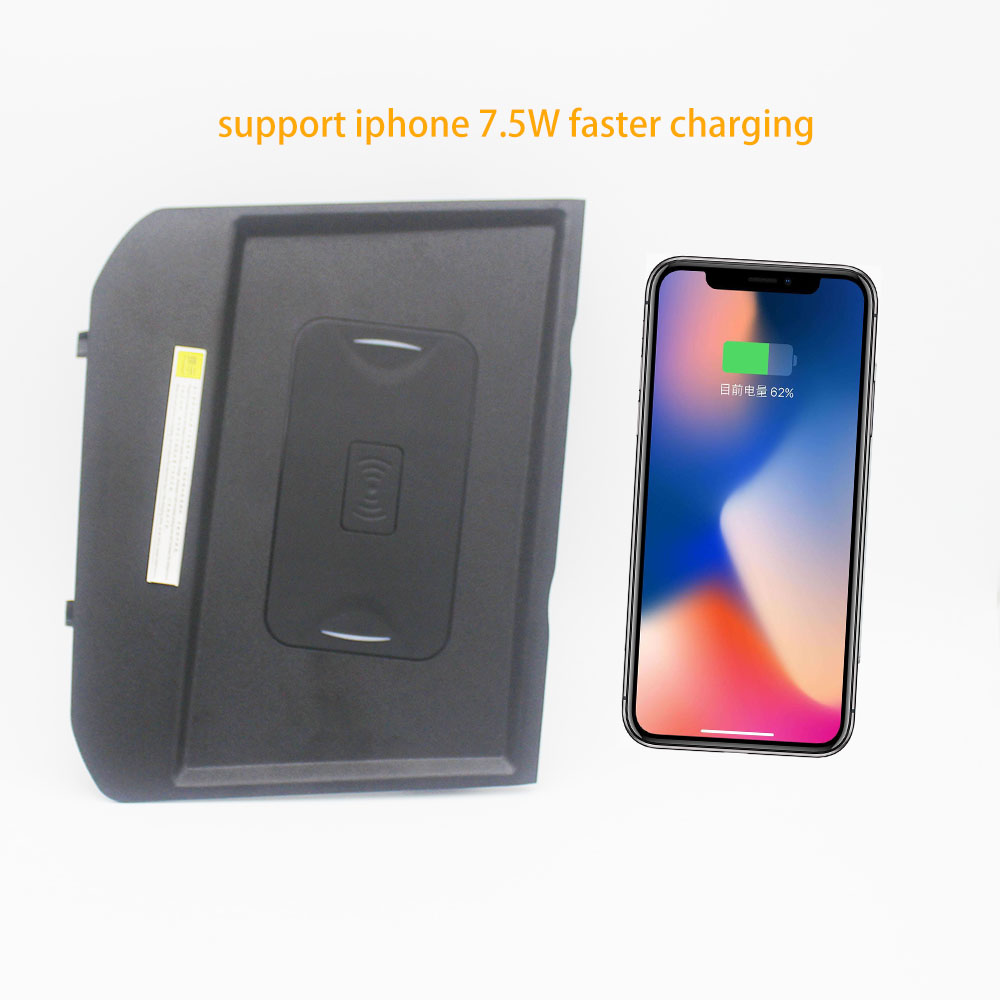 10W Qi Wireless Charger fast charger wireless charging For Peugeot 3008 Allure 5008 2017 2019 for