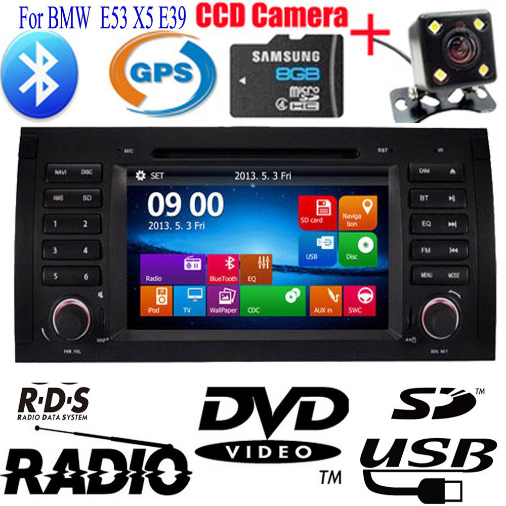 double 2 din car dvd cd player for bmw e53 x5 e39 built in. Black Bedroom Furniture Sets. Home Design Ideas