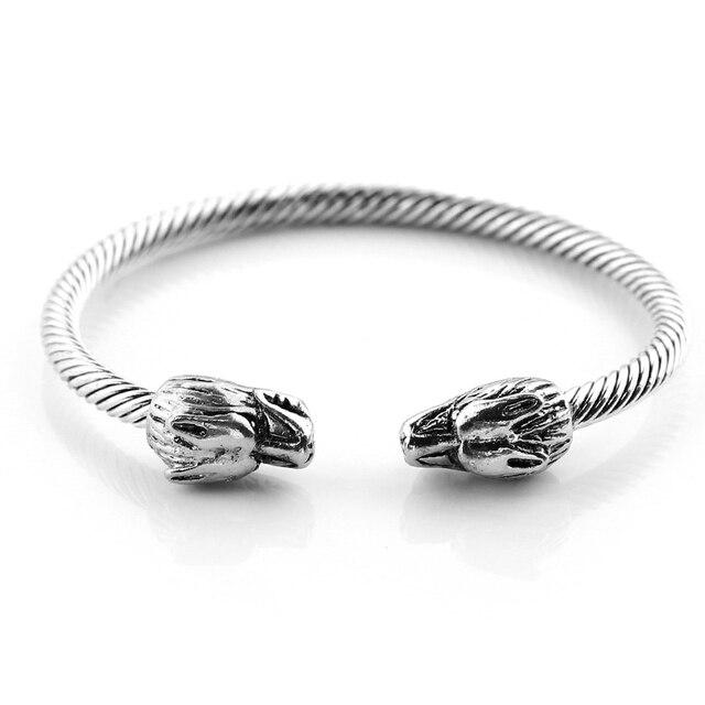 Cool Men Punk Leading Jewelry Viking Bracelets Bangles Unisex Wolf